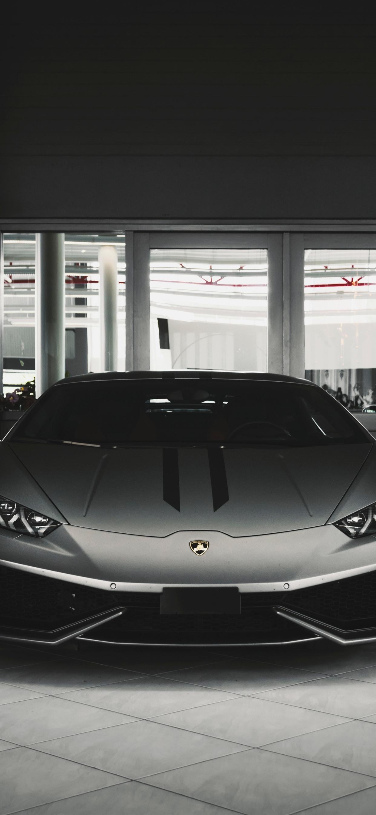 Wallpaper Lamborghini Silver Car Front View 3840x2160 Uhd 4k Picture