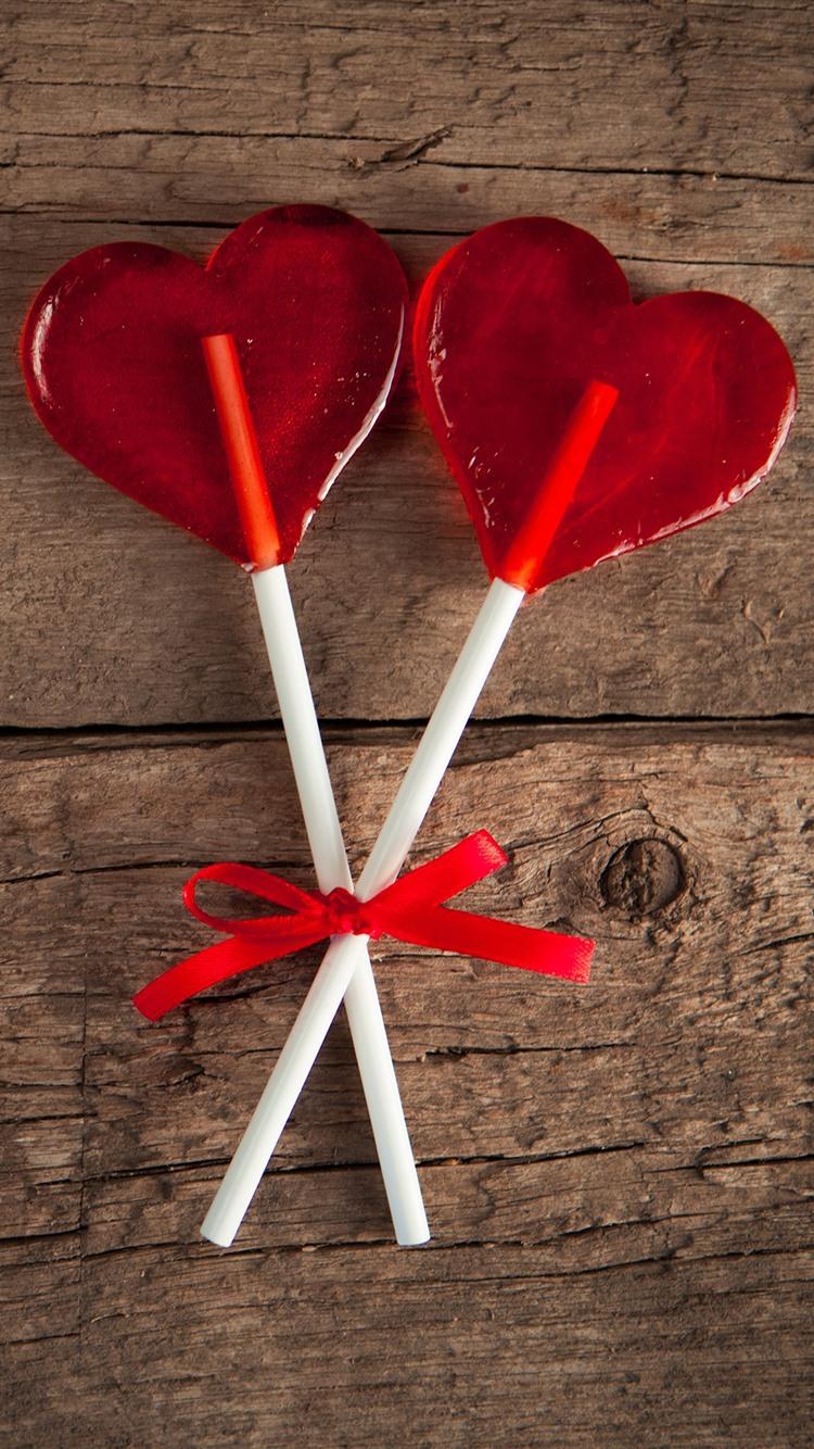 Lollipop красное сердце любви 1080x1920 Iphone 8 7 6 6s