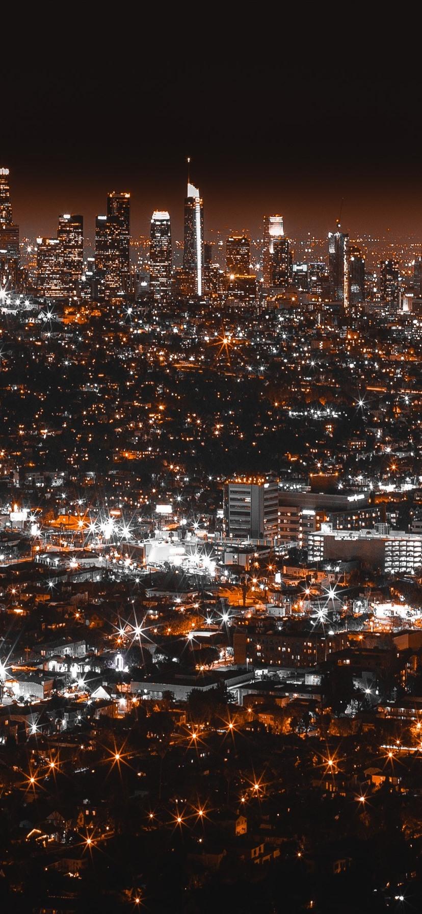 Wallpaper Los Angeles Night City Lights Usa 2880x1800 Hd
