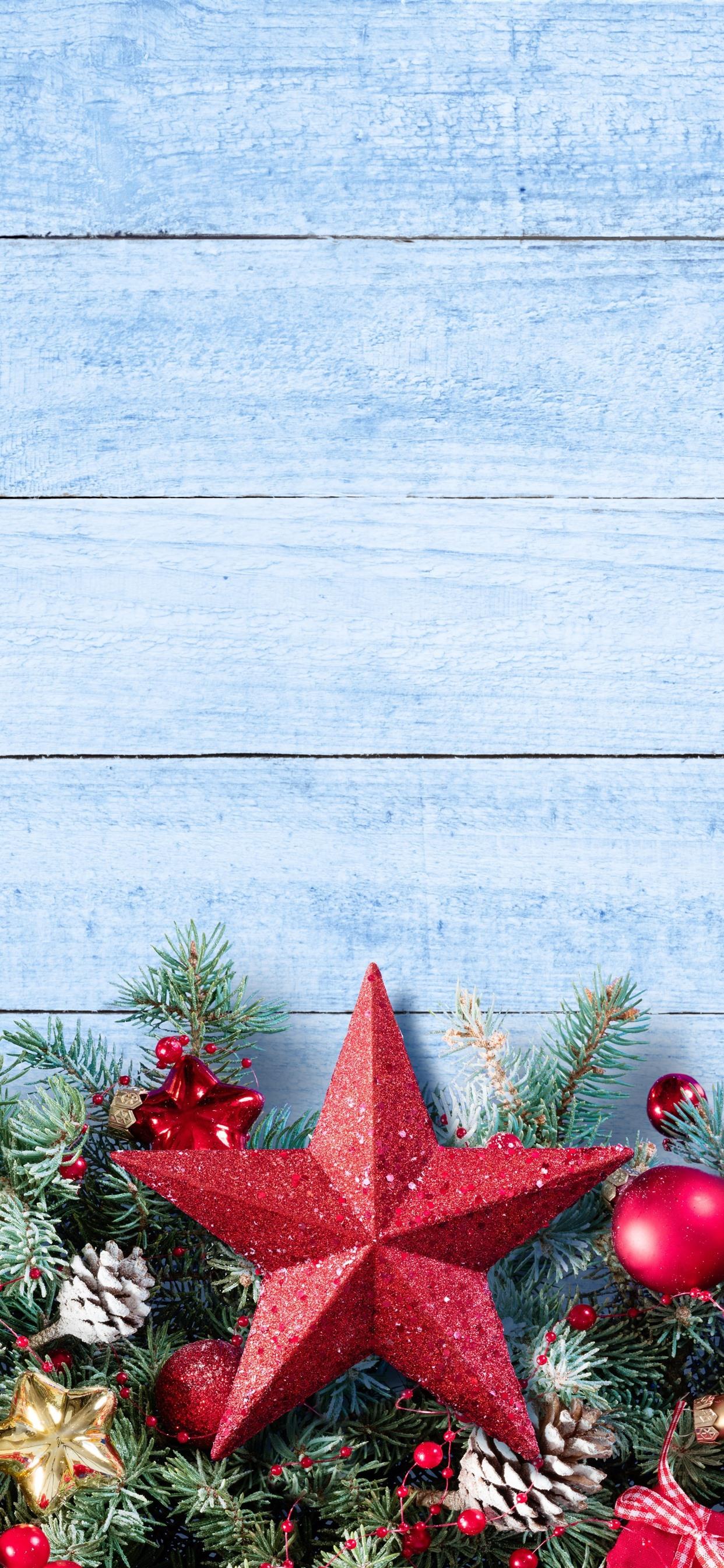 Merry Christmas Wallpaper.Merry Christmas Stars Balls Decoration 1242x2688 Iphone