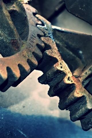 iPhone Wallpaper Metal gears, rusty