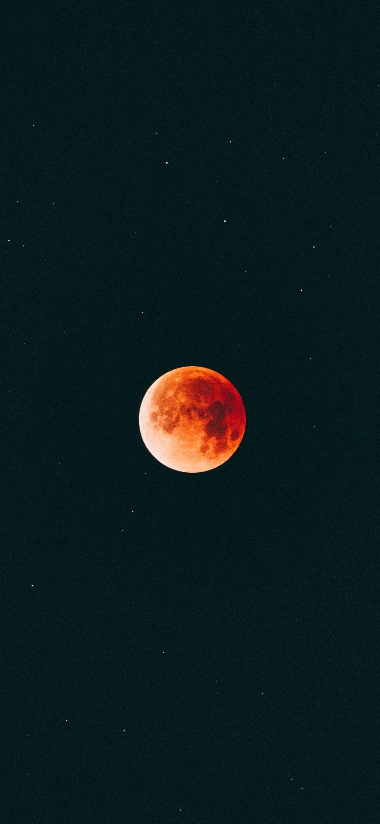 new arrival d843a e7cb4 Moon, orange, night, sky 1242x2688 iPhone XS Max wallpaper ...