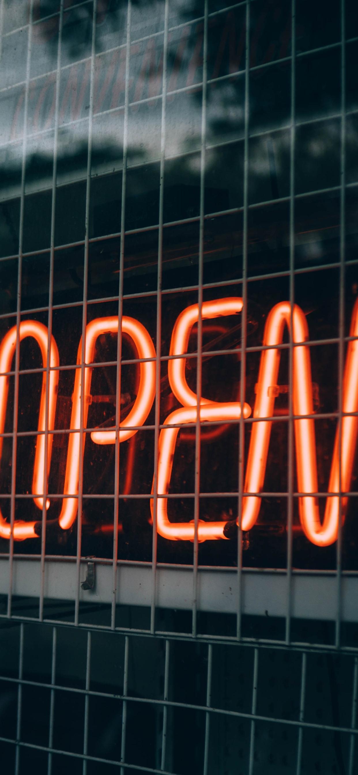 Wallpaper Open, neon lights 5120x2880 UHD 5K Picture, Image