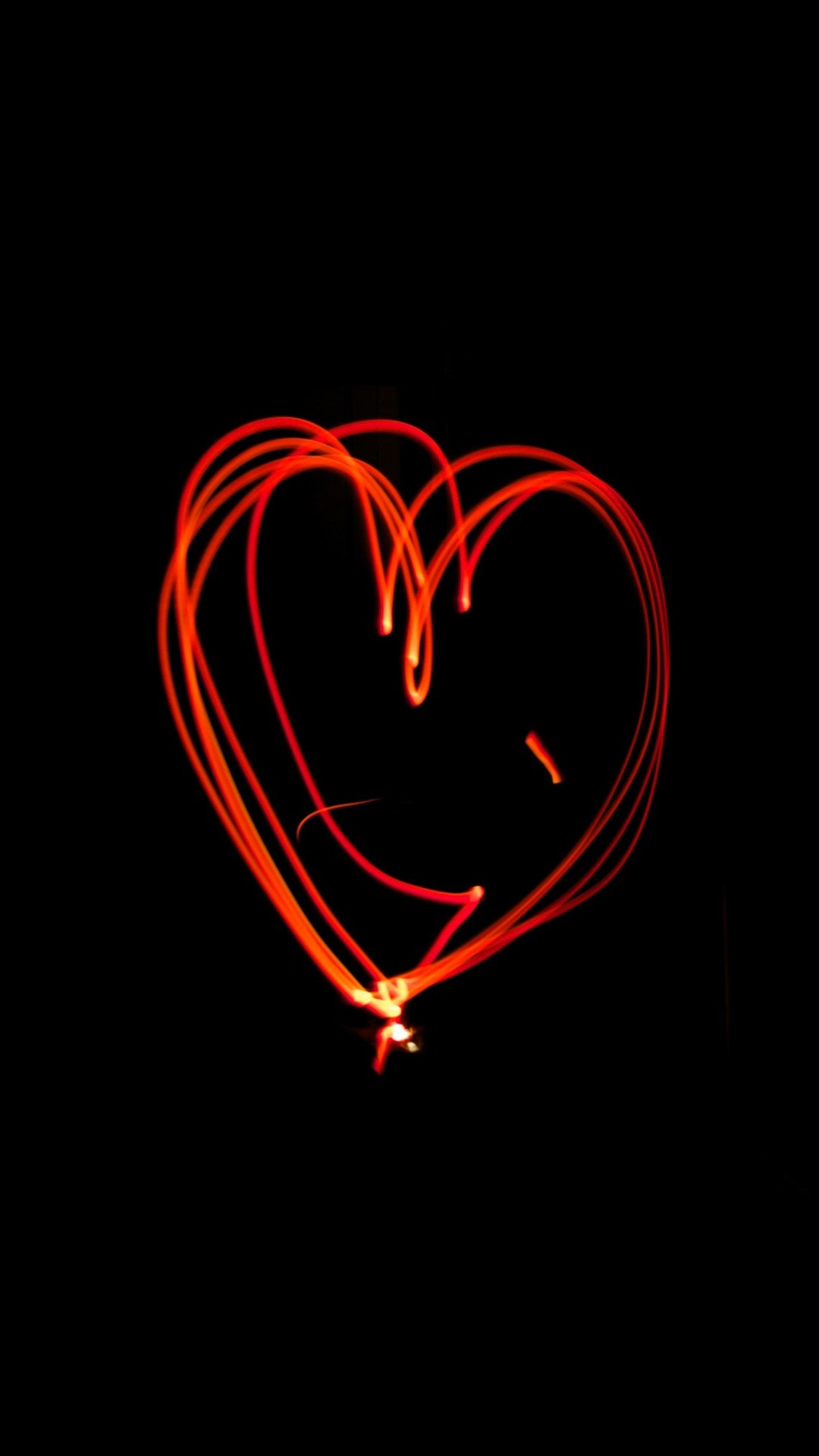 efb11bec97d428 Red love heart light lines