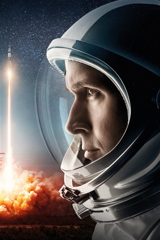 iPhone Wallpaper Rocket, astronaut, space