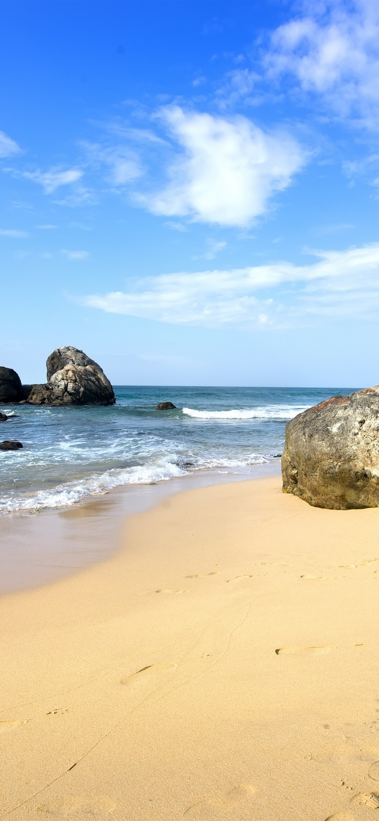 Sea Beach Stones Tropical 1242x2688 Iphone Xs Max Wallpaper