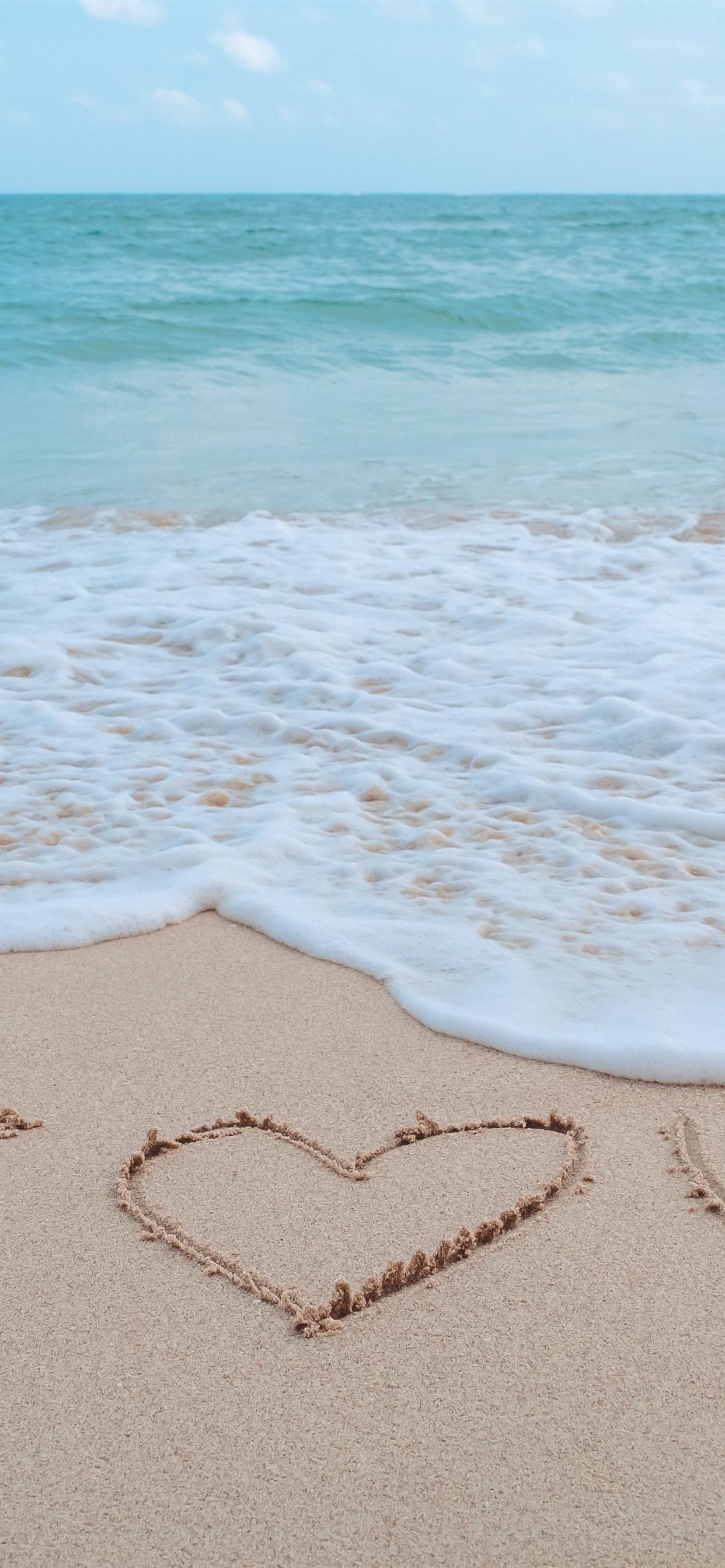 Sea Foam Beach I Love You 1242x2688 Iphone Xs Max