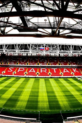 iPhone Wallpaper Spartak Stadium, football, Moscow, Russia