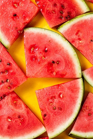 iPhone Wallpaper Summer fruit, some slices of watermelon