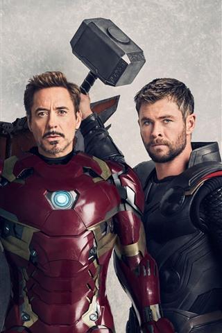 iPhone Wallpaper Superheroes, Falcon, Iron Man, Thor