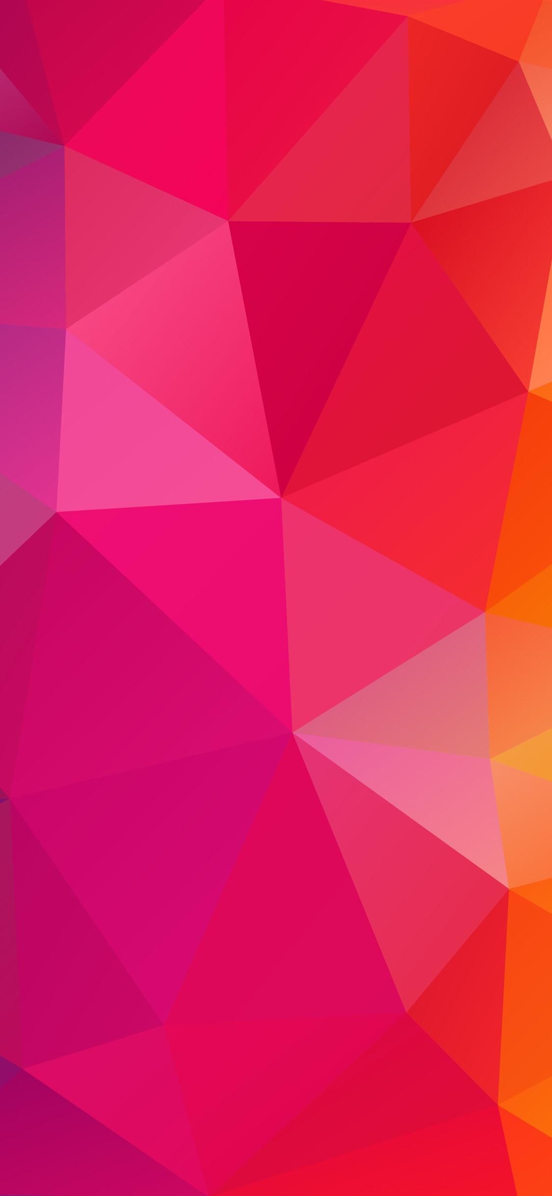 Triangles Combination Geometry Rainbow Colors 1125x2436