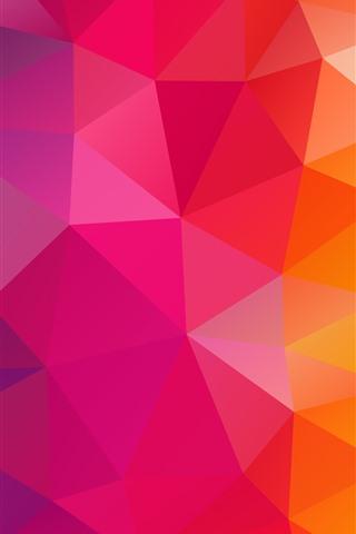 iPhone Papéis de Parede Combinação de triângulos, geometria, cores do arco-íris