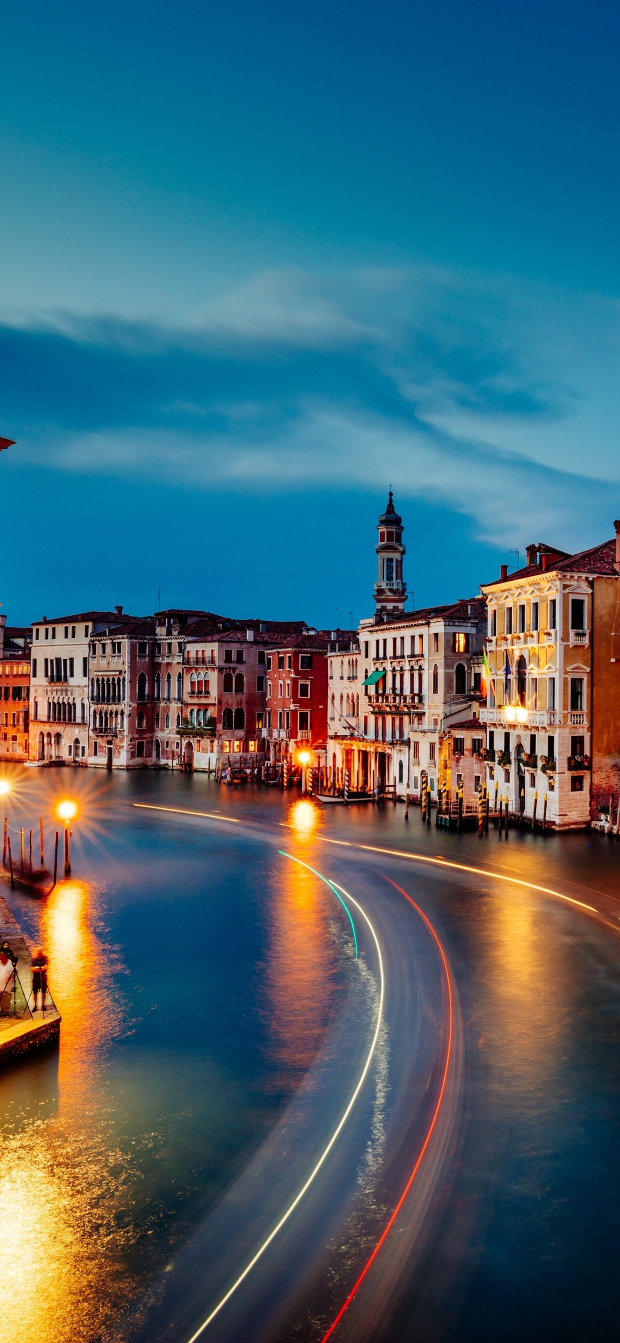 Venice Grand Canal Beautiful Night Houses Lights Night