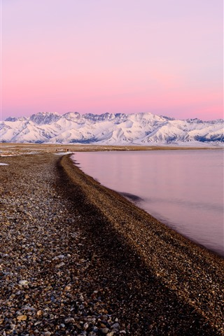 iPhone Wallpaper Xinjiang Sailimu Lake