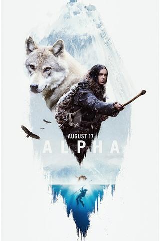 iPhone Hintergrundbilder Alpha, Mädchen und Wolf, Film 2018