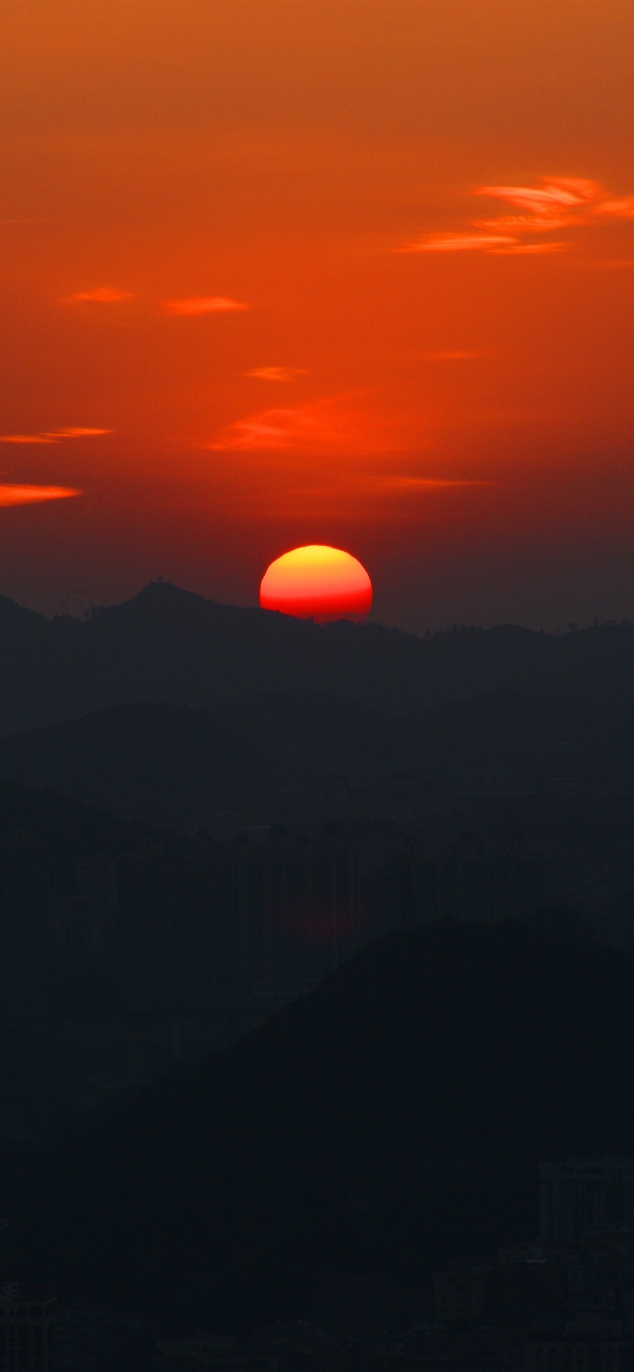 Beautiful Sunset Mountains Red Sun 1242x2688 Iphone 11 Pro Xs Max Wallpaper Background Picture Image