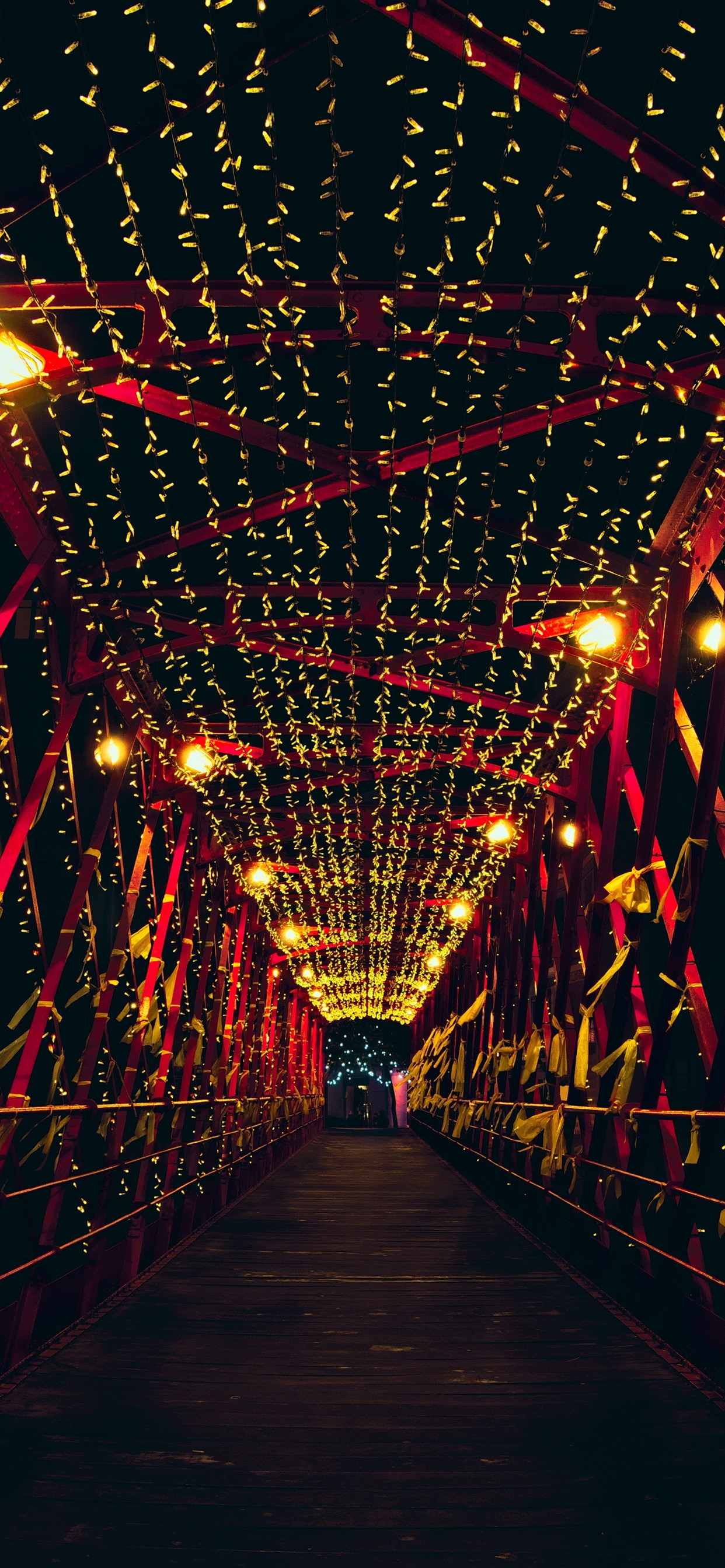 Wallpaper Bridge Night Lights Holiday 2880x1800 Hd Picture Image