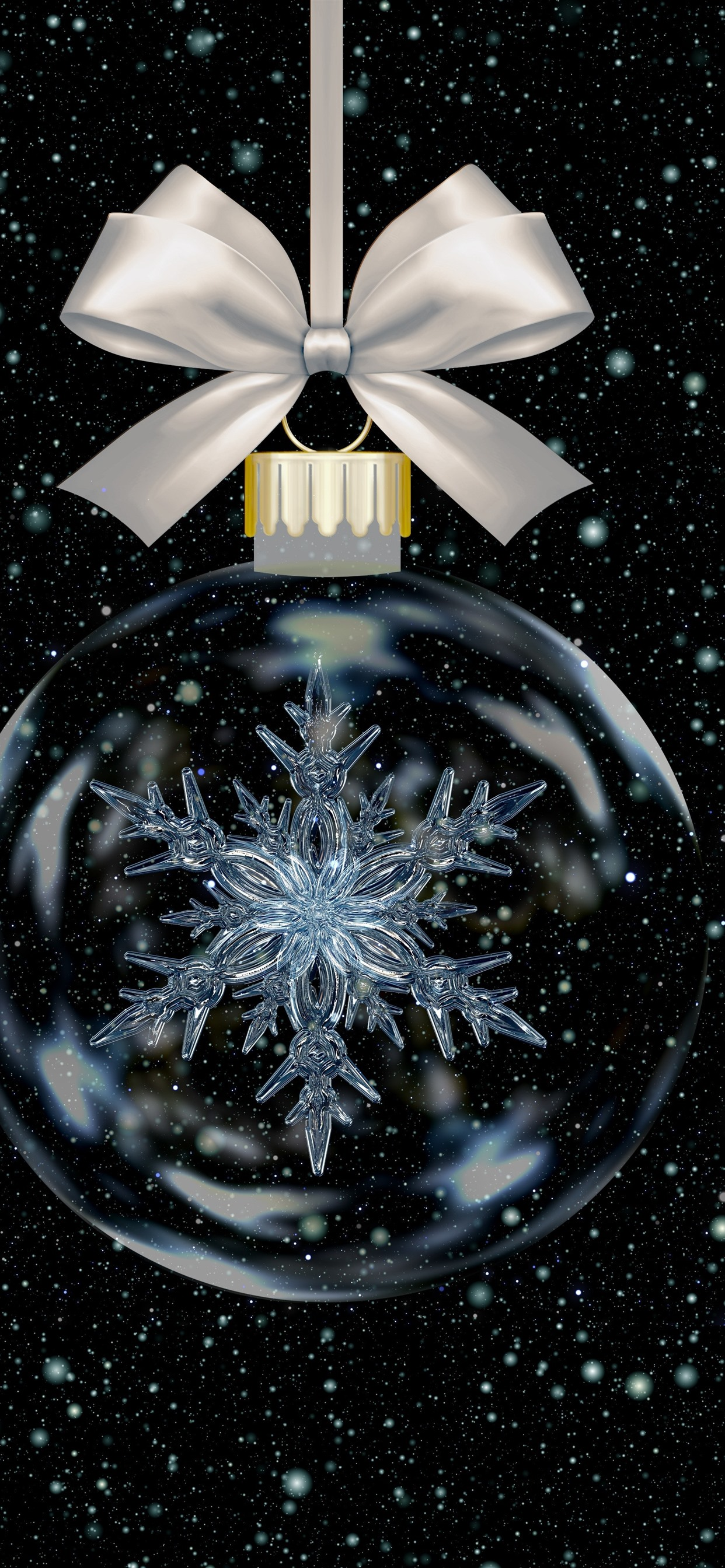 Christmas Ball Snowflake Snow 1242x2688 Iphone 11 Pro Xs Max Wallpaper Background Picture Image