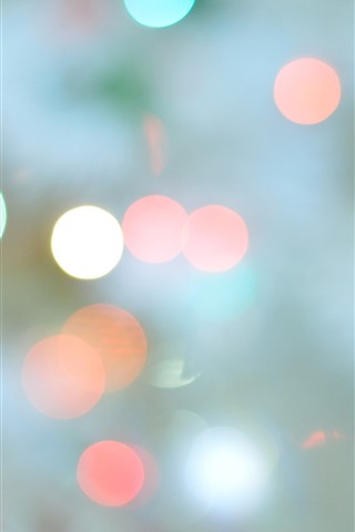 iPhone Wallpaper Colorful light circles, glare, hazy