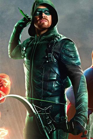 iPhone Wallpaper DC Comics superheroes, Arrow, Flash, Supergirl