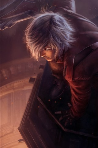 iPhone Wallpaper Devil May Cry 5, boy, sword, art picture