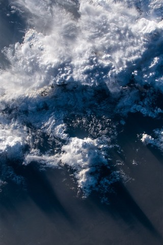 iPhone Wallpaper Earth, top view, clouds
