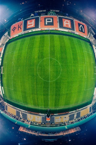iPhone Wallpaper Football Stadium, from top view, night