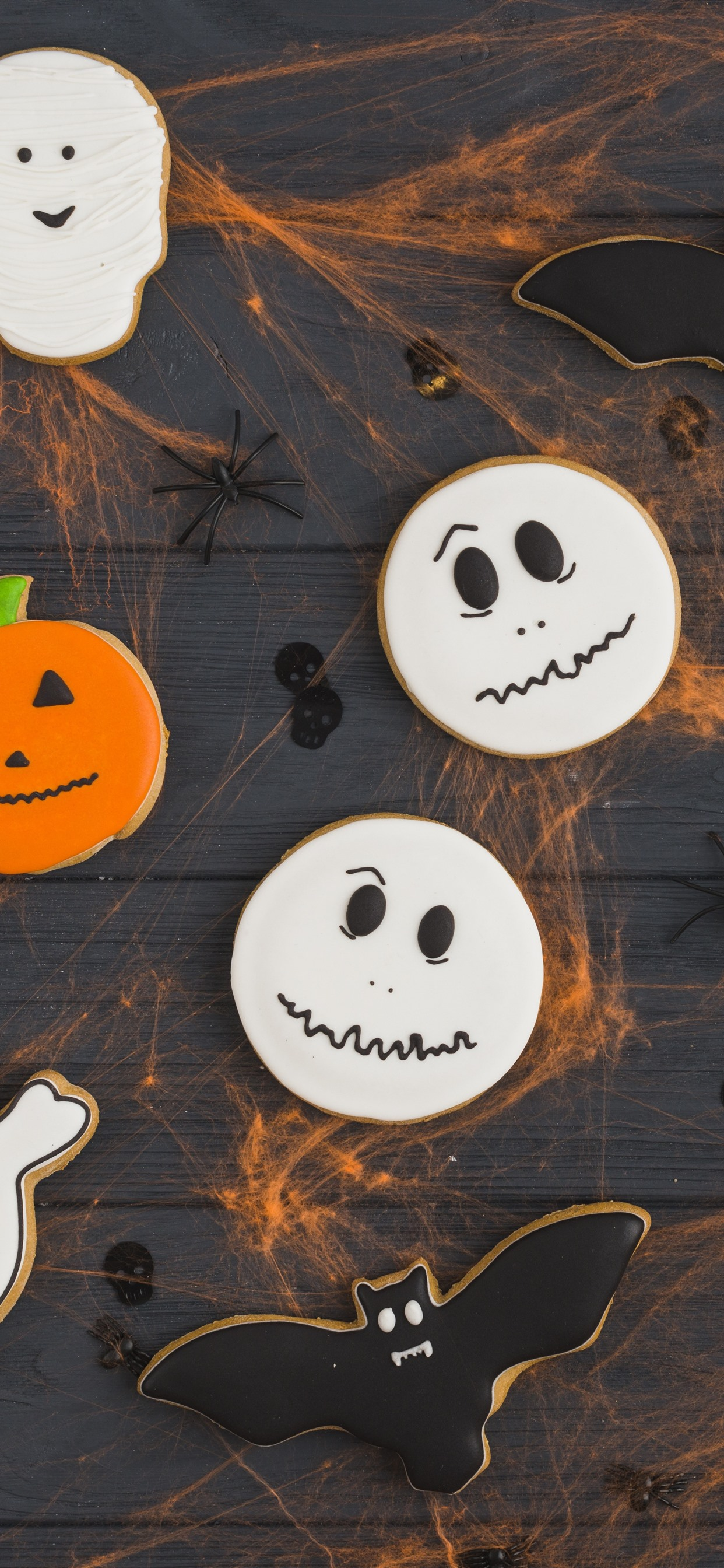 Halloween Cookies Food 1242x2688 Iphone 11 Pro Xs Max Wallpaper Background Picture Image