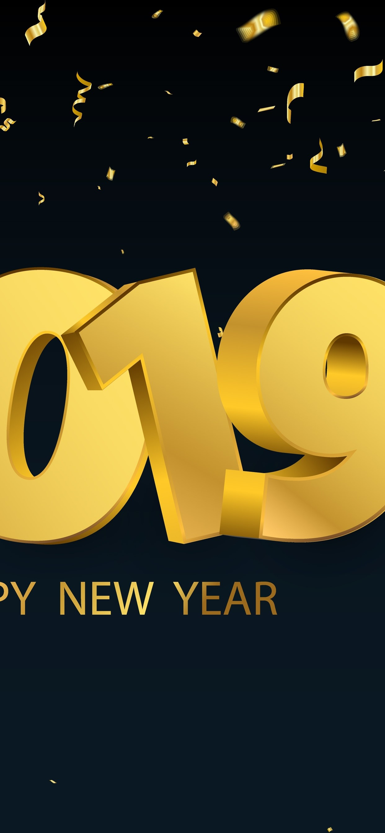 Happy New Year 2019 Golden Style 1242x2688 Iphone Xs Max