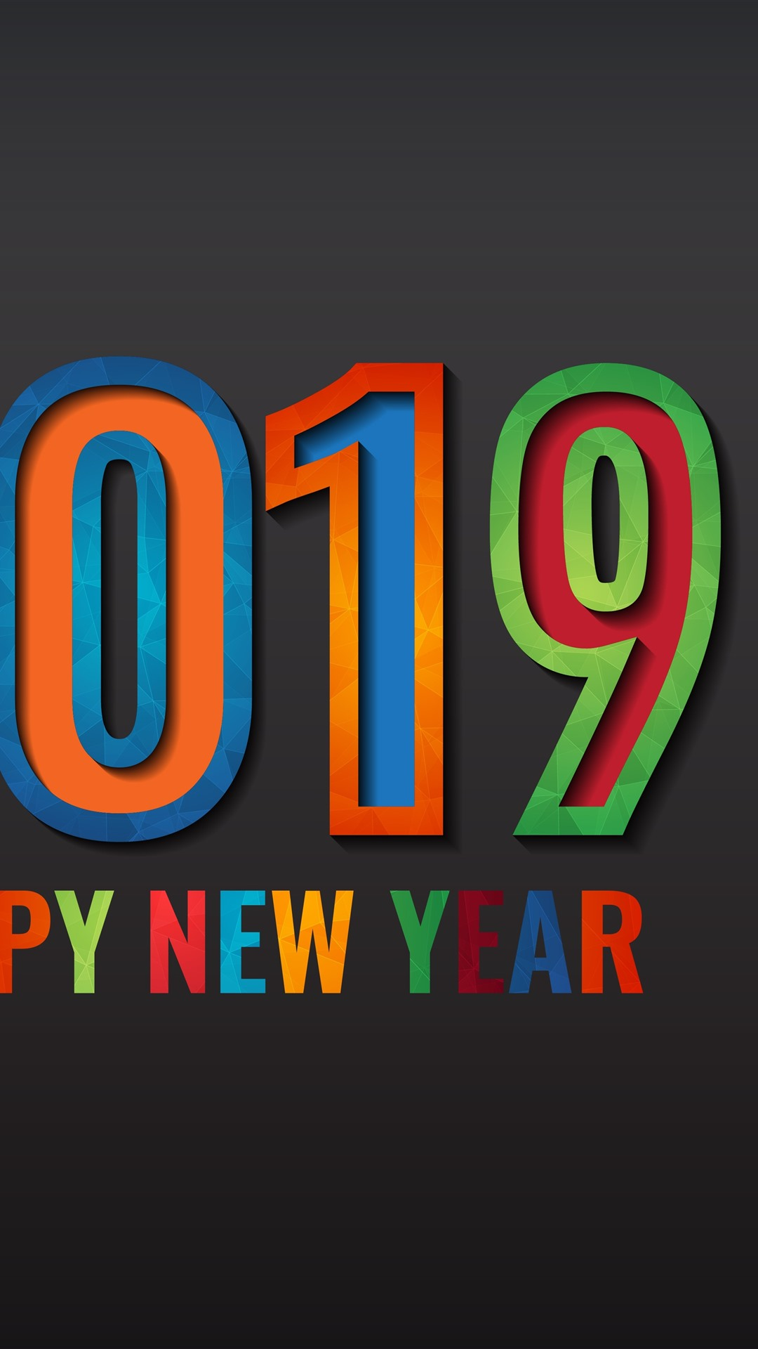 Happy New Year 2019 1242x2688 iPhone XS Max wallpaper