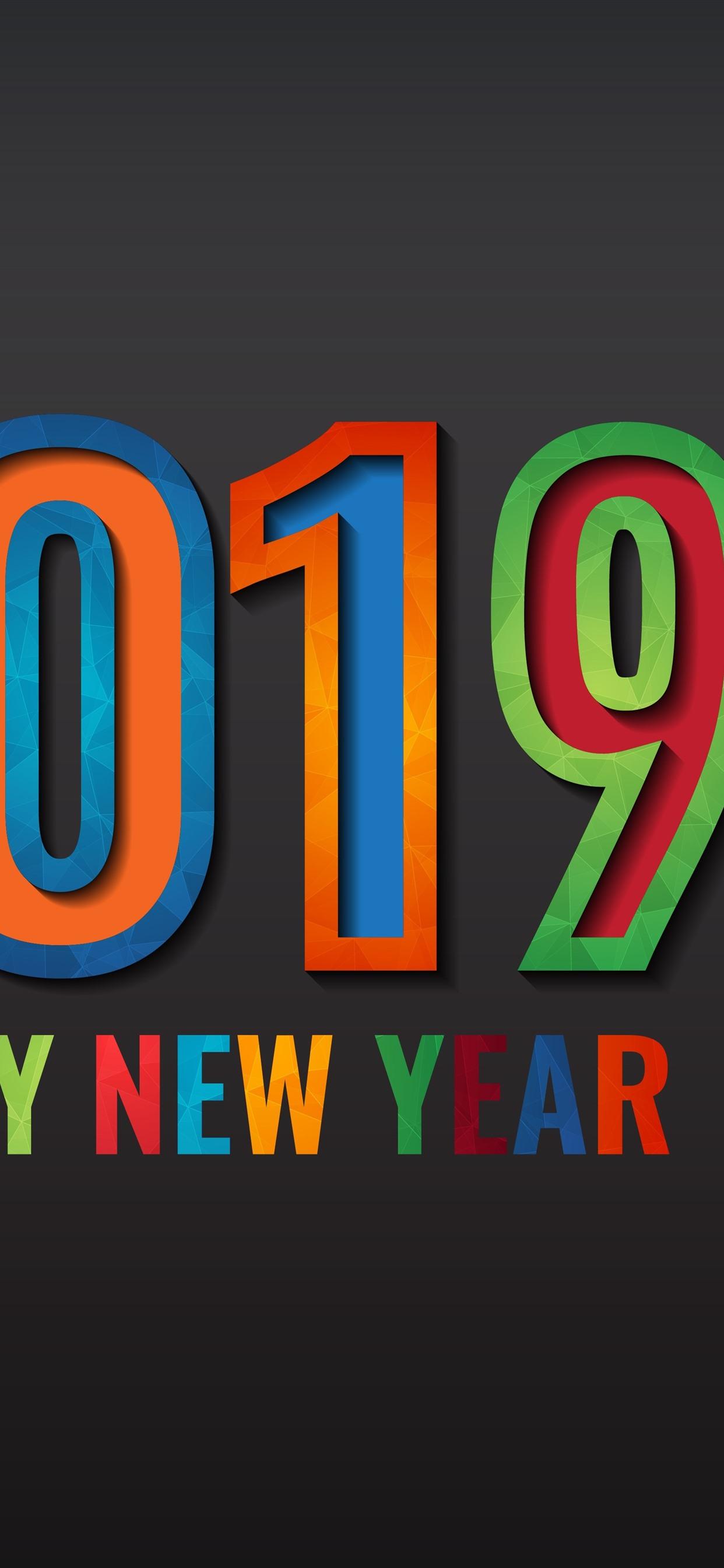 Happy New Year 2019 1242x2688 Iphone Xs Max Wallpaper