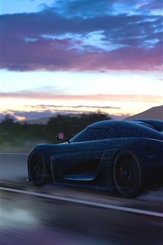 iPhone Wallpaper Koenigsegg supercar speed, Forza Horizon 3