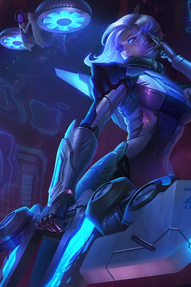 Fondos De Pantalla League Of Legends Ashe Niña Azul