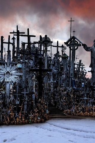 iPhone Wallpaper Lithuania, Hill of Crosses