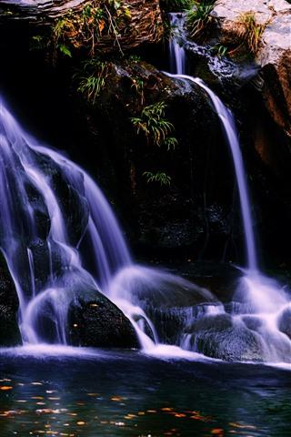 iPhone Wallpaper Lushan, waterfall, water, China