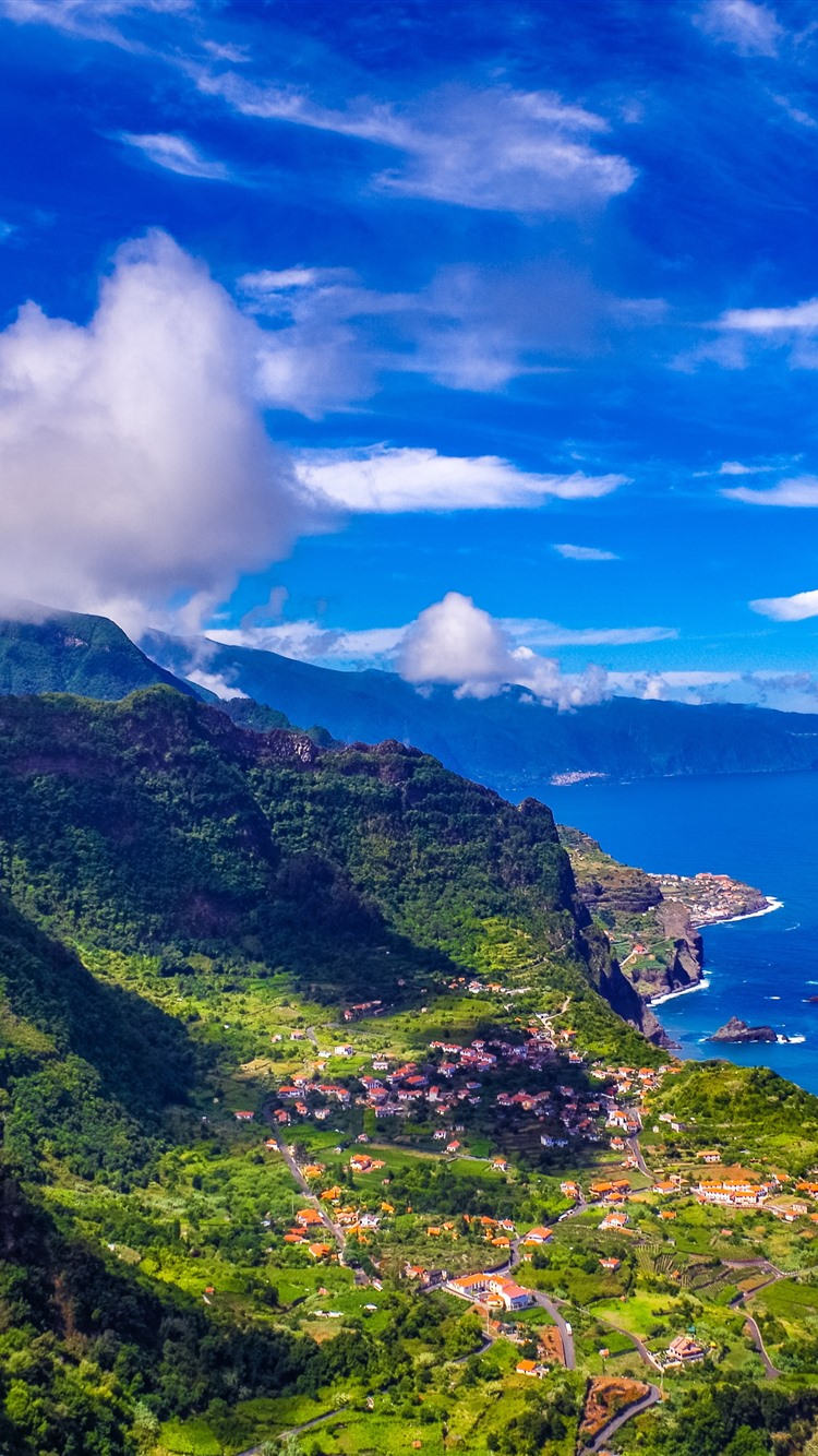 Wallpaper Madeira Portugal City Sea Mountains