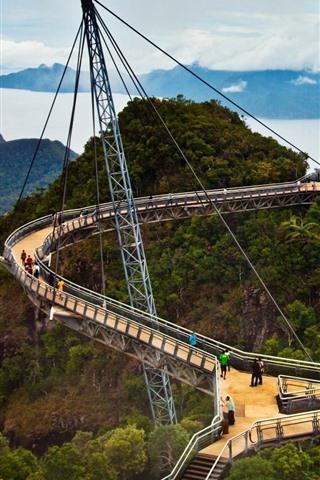 iPhone Wallpaper Malaysia, Langkawi Sky Bridge