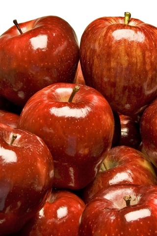 Many Red Apples White Background 828x1792 Iphone 11 Xr Wallpaper Background Picture Image