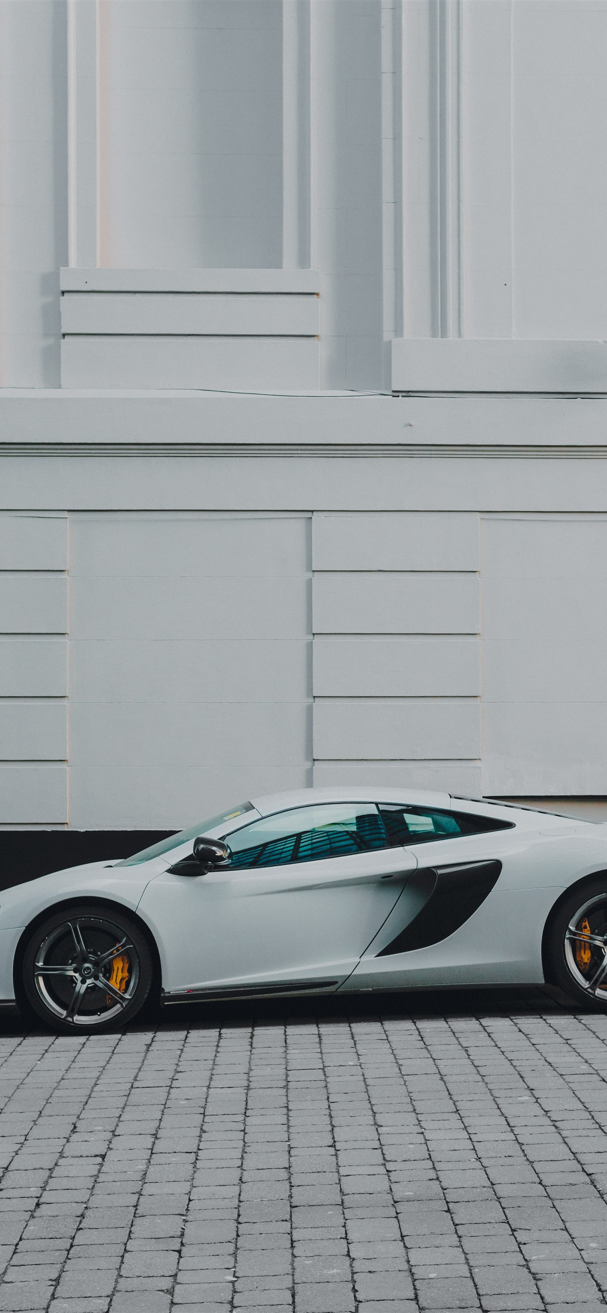Mclaren White Supercar Side View 1242x2688 Iphone Xs Max