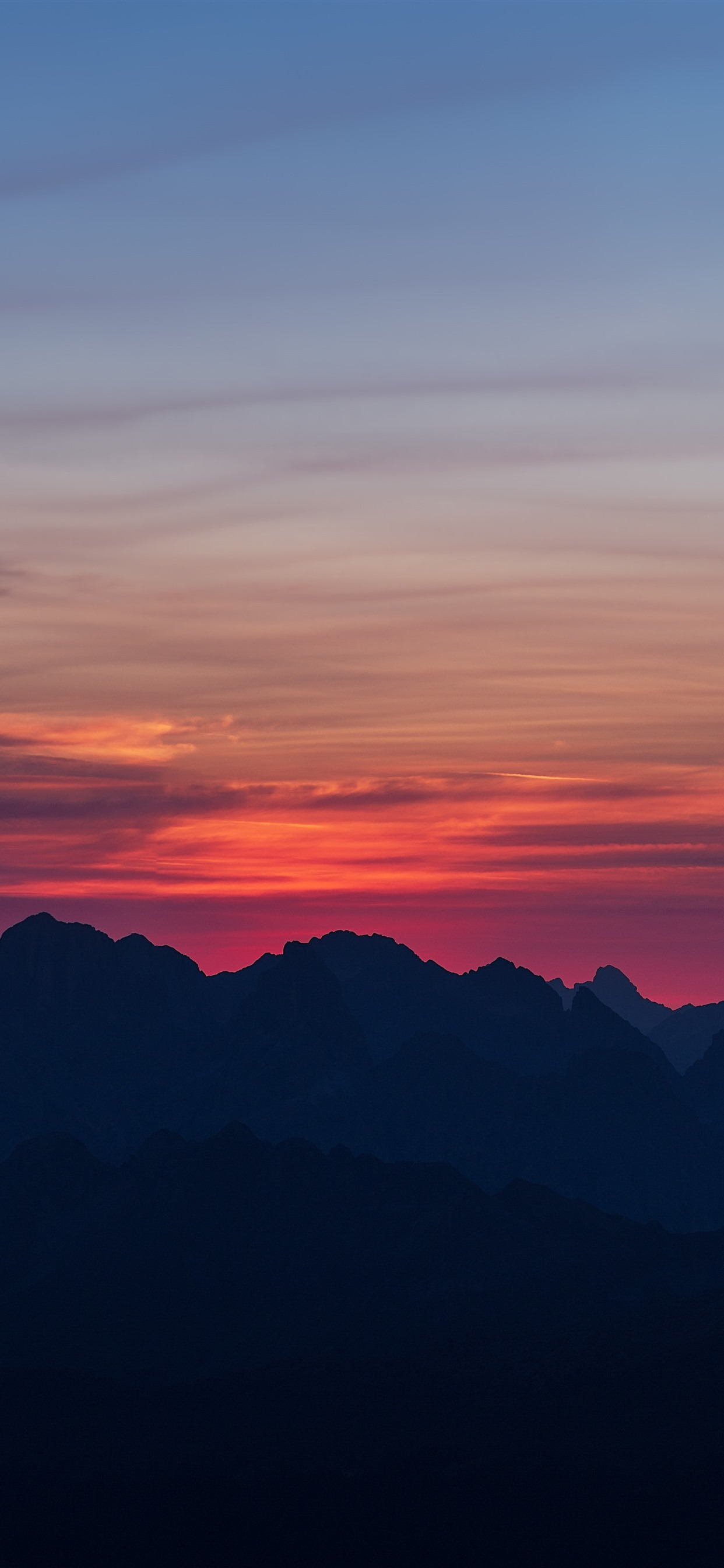 Mountains Sunset Sky Clouds 1242x2688 Iphone 11 Pro Xs Max Wallpaper Background Picture Image