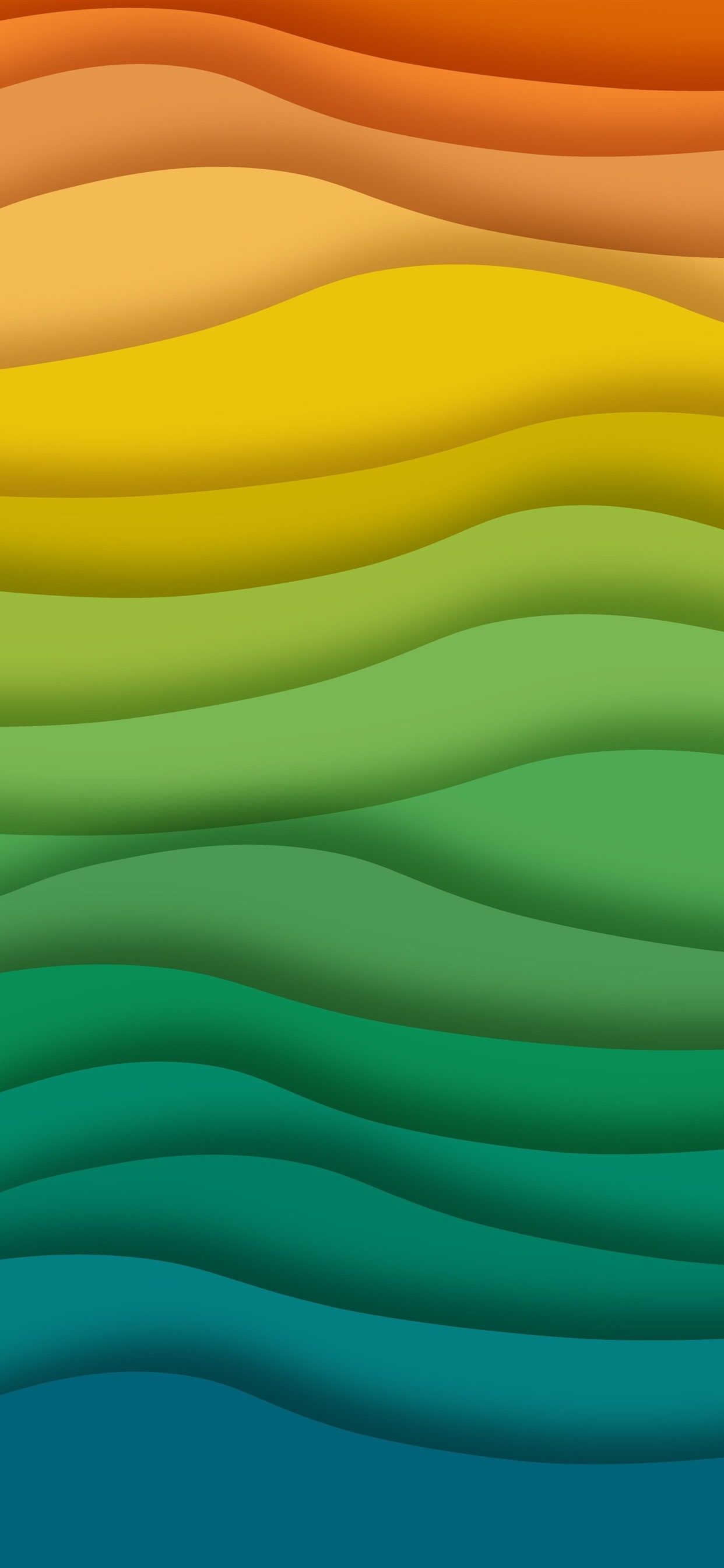 Rainbow Waves Abstract 1242x2688 Iphone 11 Pro Xs Max Wallpaper Background Picture Image