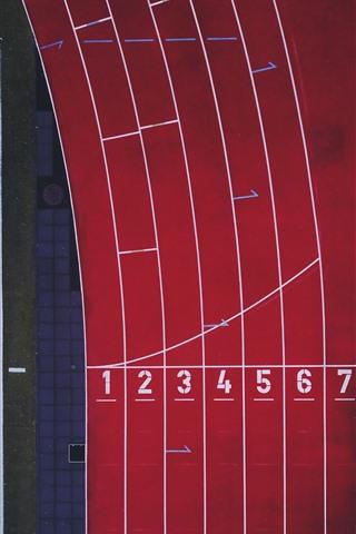 iPhone Wallpaper Stadium, runway, sport, top view