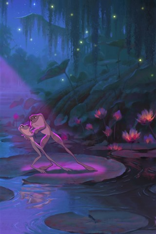 iPhone Wallpaper The Princess and the Frog, cartoon movie