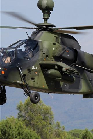 iPhone Hintergrundbilder Tiger A38 Hubschrauber