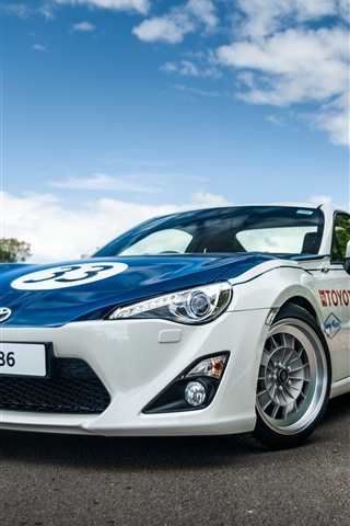 iPhone Wallpaper Toyota GT86 sport car front view