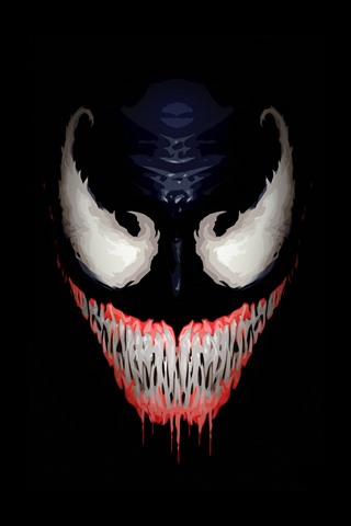 Venom Face Teeth Black Background Art Picture 1242x2688 Iphone 11 Pro Xs Max Wallpaper Background Picture Image