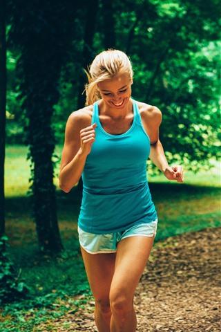 iPhone Wallpaper Woman and man, running, sport