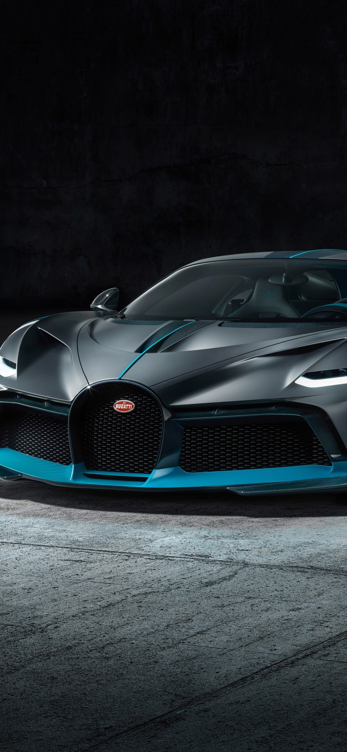 2019 Bugatti Divo Black Supercar Front View 1242x2688 Iphone 11 Pro Xs Max Wallpaper Background Picture Image