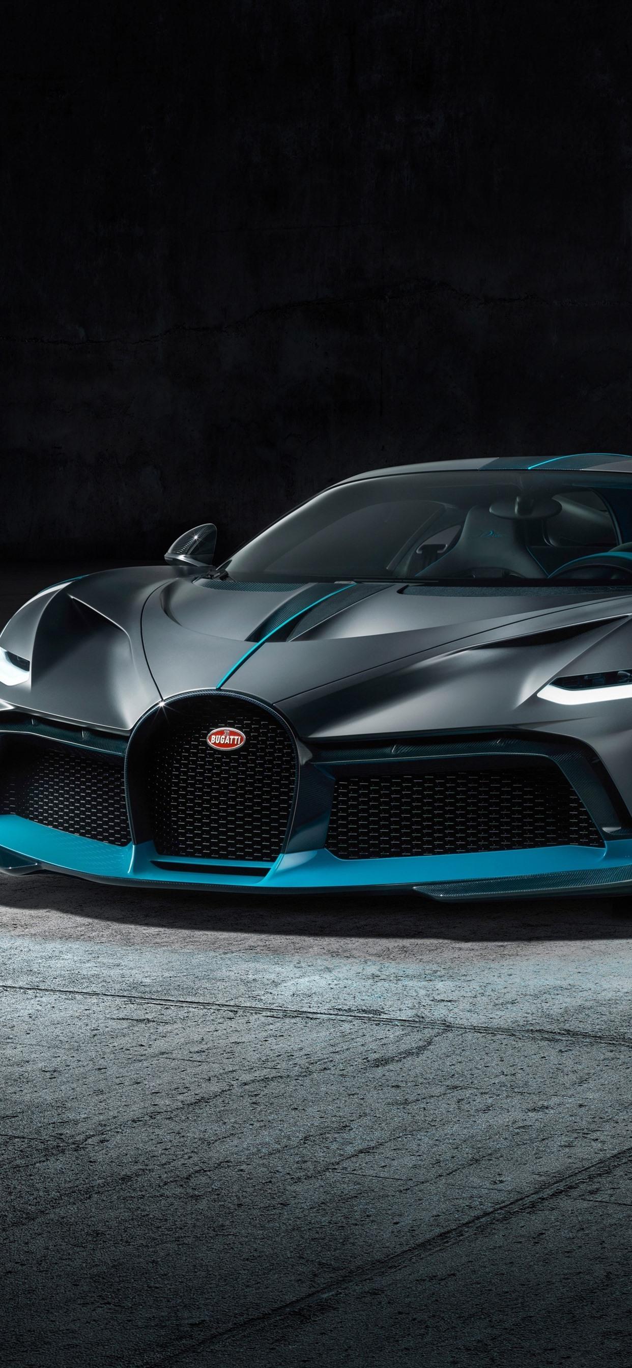2019 Bugatti Divo Black Supercar Front View 1242x2688 Iphone