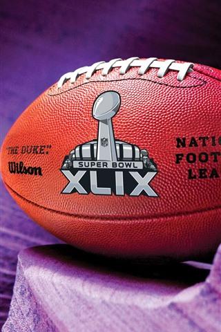 iPhone Wallpaper American football, purple background